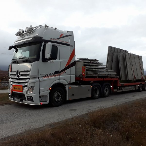 transport åpen betong